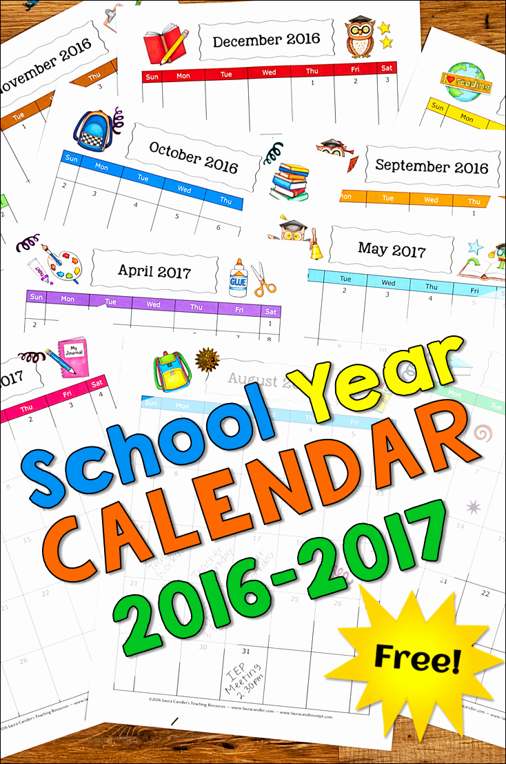 5 Year Calendar Starting 2016 Awesome Corkboard Connections Grab Your Free 2016 2017 School