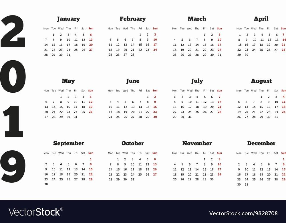 5 Year Calendar Starting 2016 Fresh Free Printable Calendars and Planners 2019 2020 2021