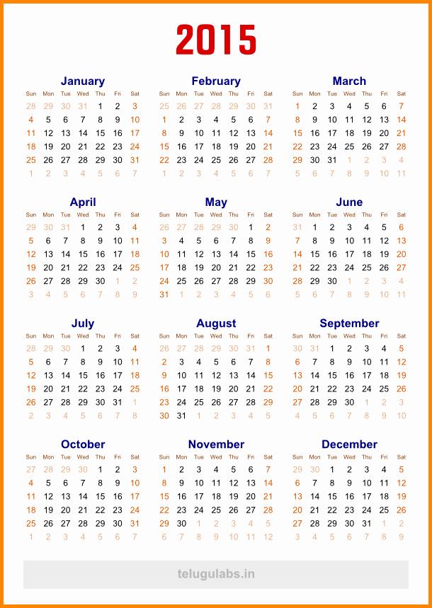 5 Year Calendar Starting 2016 Lovely 5 Year Calendar Template Calendar Template 2018