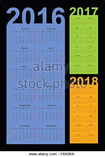 5 Year Calendar Starting 2016 Luxury Calendar 2016 2017 2018 Year Stock S & Calendar 2016