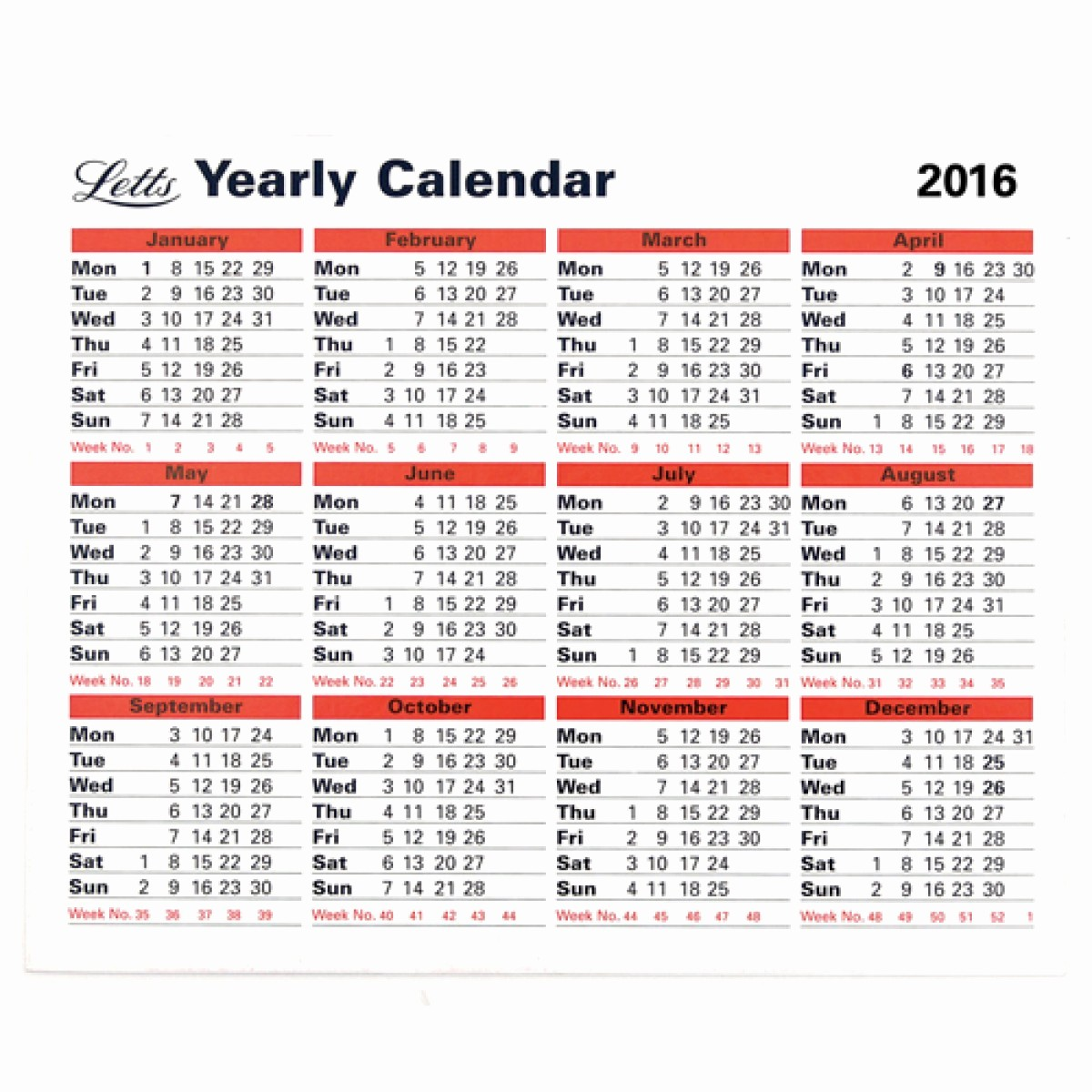 5 Year Calendar Starting 2016 New Letts Yearly Calendar 2016 5 Tyc Loco