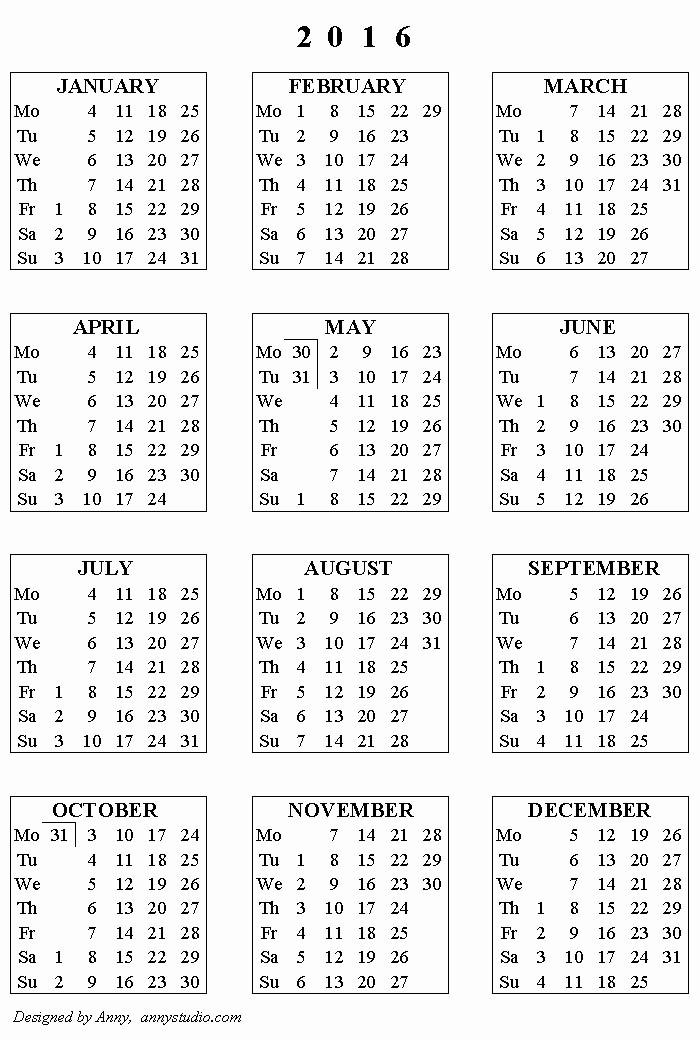 5 Year Calendar Starting 2016 New Tax Year Calendar 2016 2017 Free