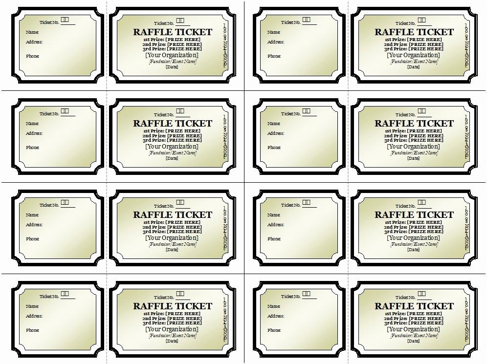 50 50 Raffle Ticket Template Beautiful 50 Free Raffle & Movie Ticket Templates Templatehub