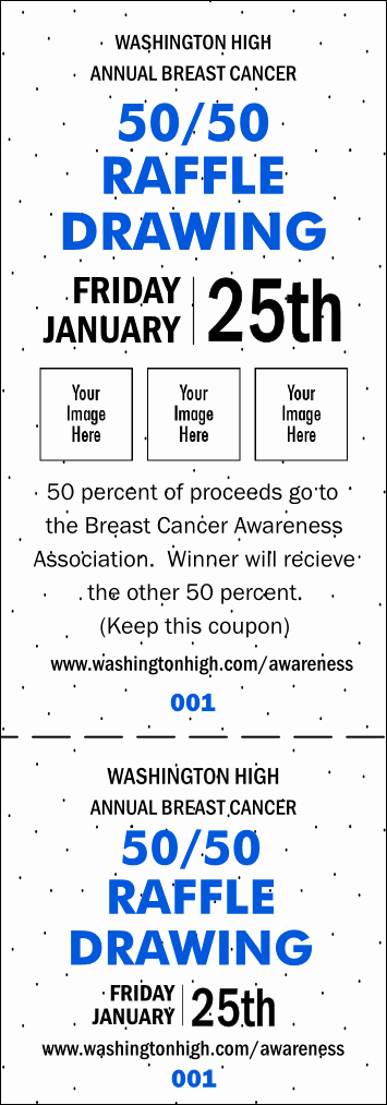 50 50 Raffle Ticket Template Beautiful Dots 50 50 Blue Raffle Ticket