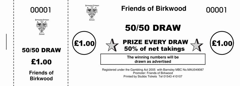 50 50 Raffle Ticket Template Fresh 50 50 Tickets · 50 50 Raffle Ticket Printers Uk