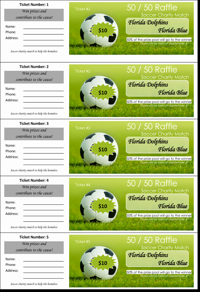 50 50 Raffle Ticket Template Lovely 20 Free Raffle Ticket Templates with Automate Ticket