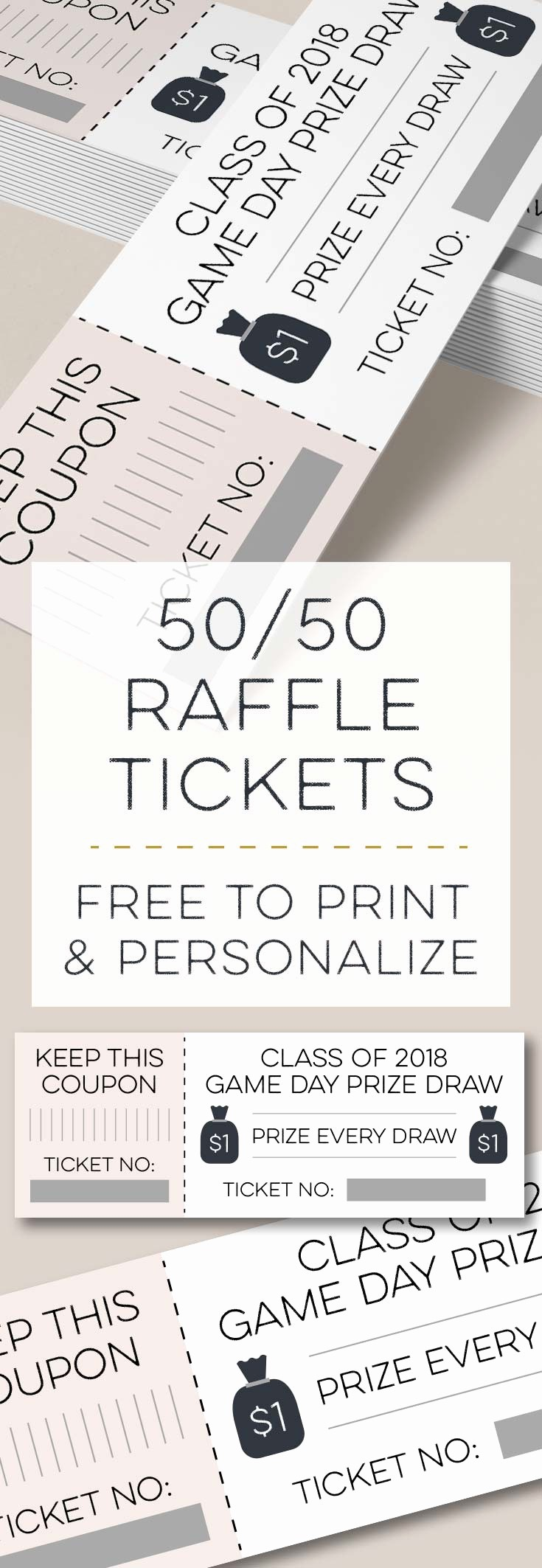 50 50 Raffle Ticket Template Luxury Moneybags 50 50 Raffle Tickets