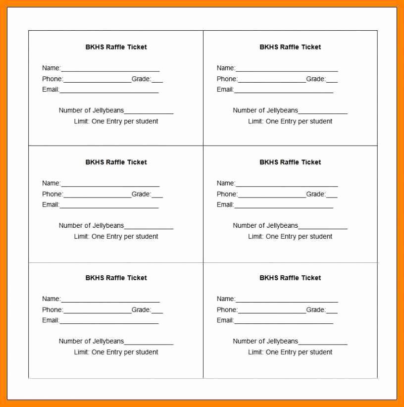50 50 Raffle Ticket Template New 6 Free Printable Raffle Tickets Template