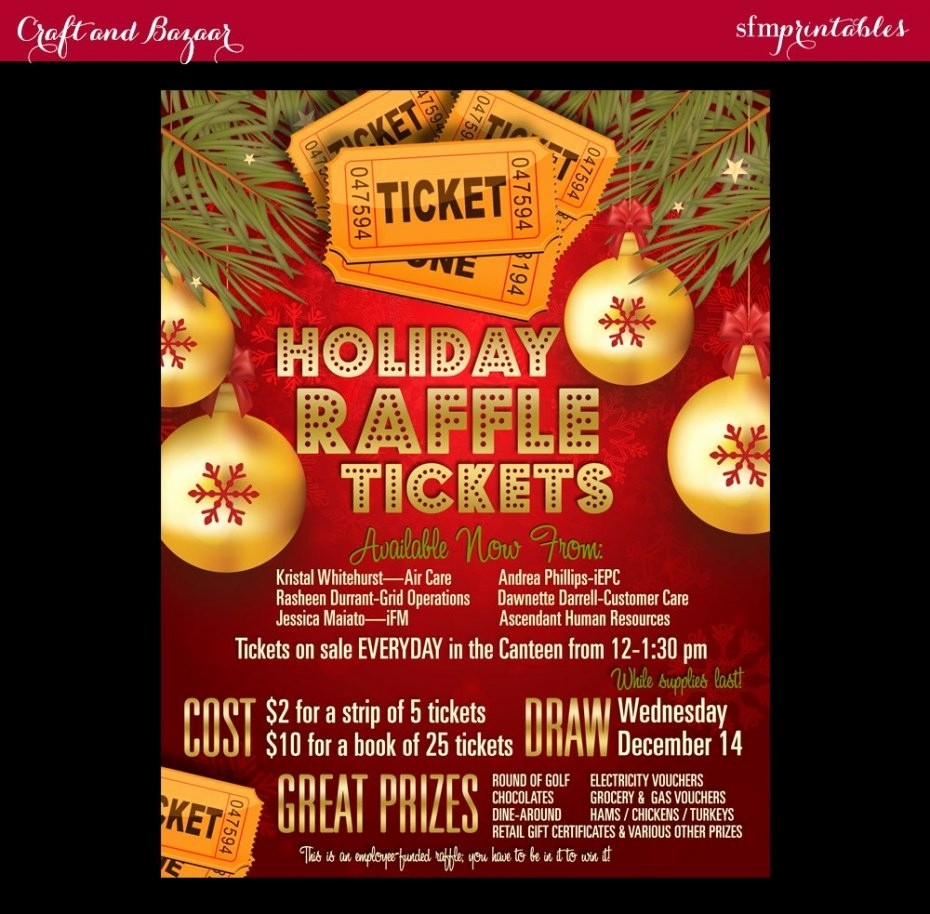 50 50 Raffle Ticket Template New Christmas Raffle Flyer Template