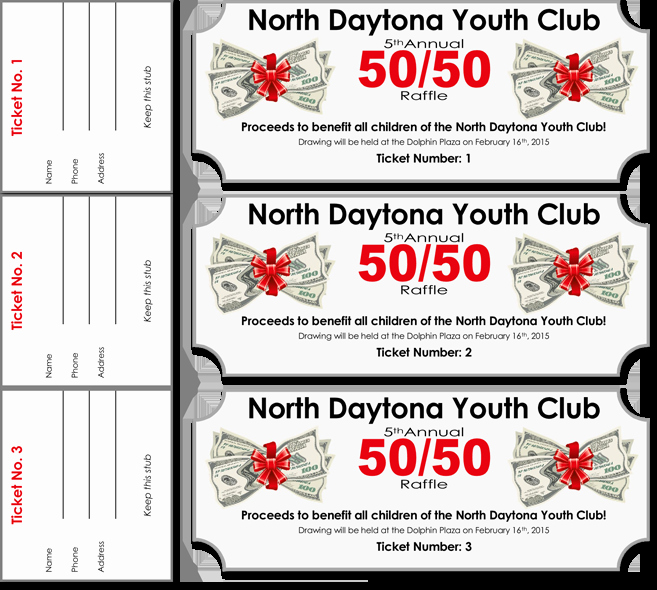 50 50 Raffle Ticket Template Unique 20 Free Raffle Ticket Templates with Automate Ticket
