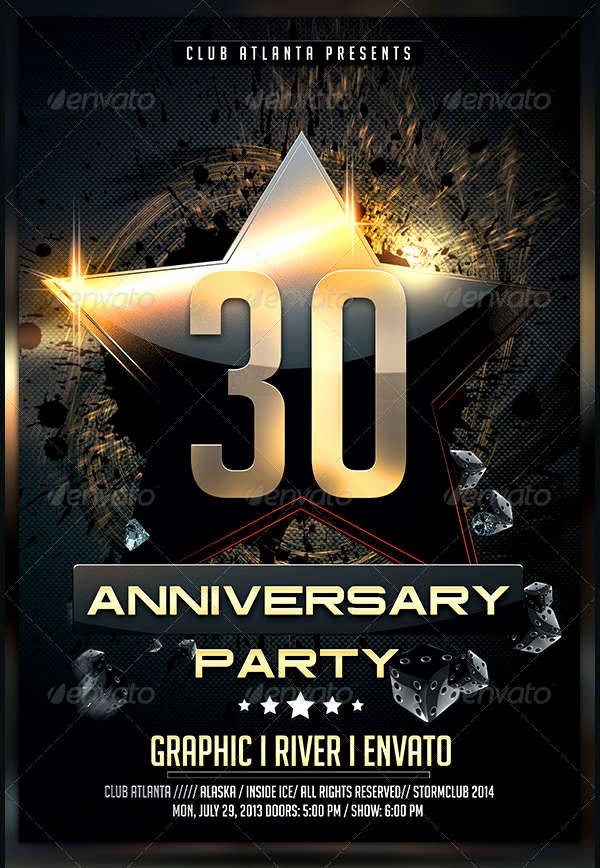 50th Birthday Flyer Template Free Awesome 10 Anniversary Party Flyers