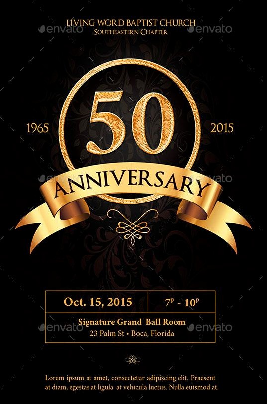 50th Birthday Flyer Template Free Beautiful Anniversary Flyer Template Graphicstank