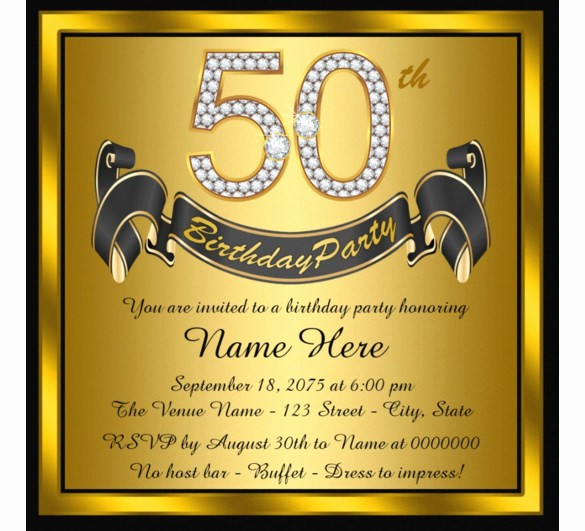 50th Birthday Flyer Template Free Best Of 14 50th Birthday Invitations Free Psd Ai Vector Eps