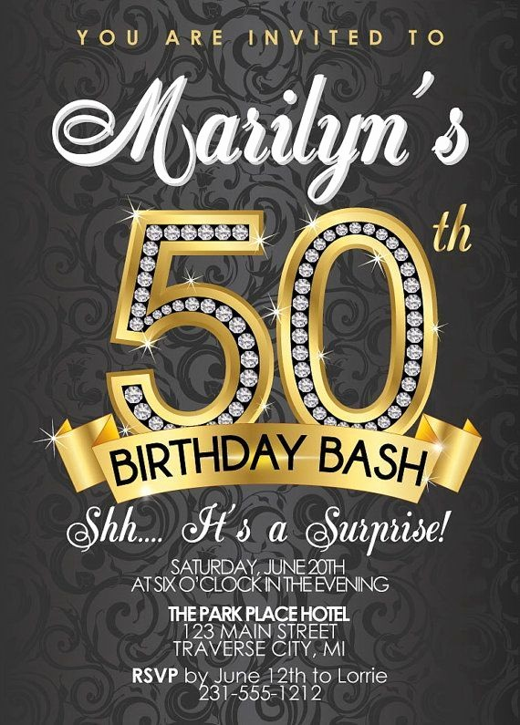 50th Birthday Flyer Template Free Elegant 50th Birthday Invitations Templates Free