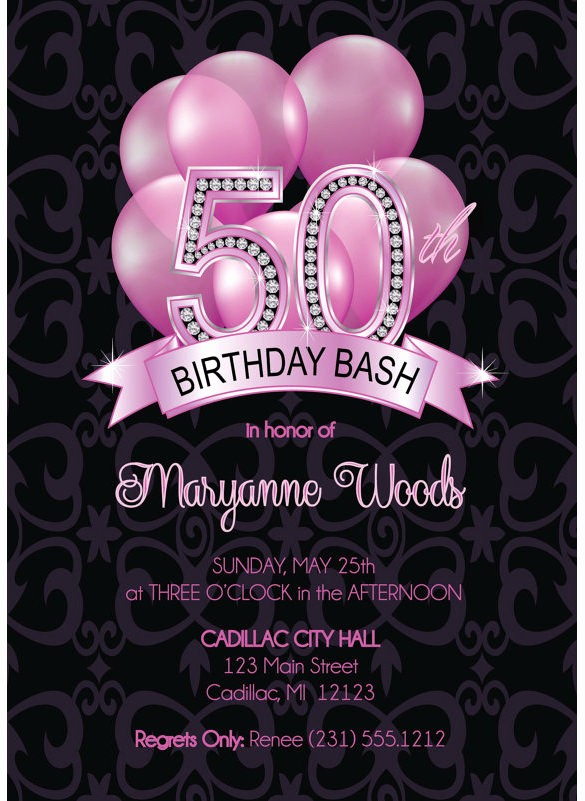 50th Birthday Flyer Template Free Fresh 14 50th Birthday Invitations Free Psd Ai Vector Eps