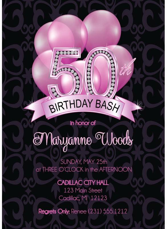 50th Birthday Flyer Template Free Fresh 14 50th Birthday Invitations Free Psd Ai Vector Eps