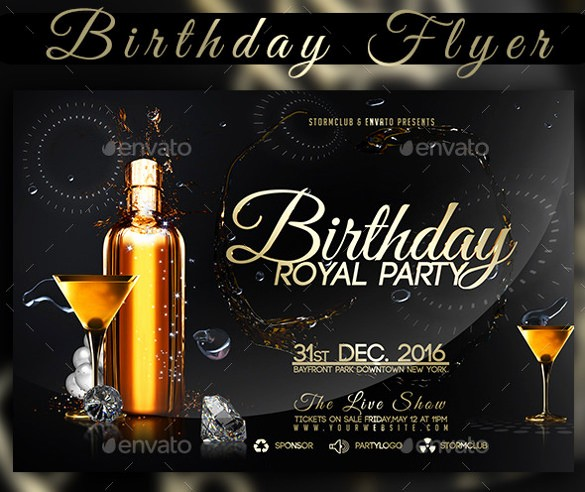 50th Birthday Flyer Template Free Fresh 34 Birthday Flyer Templates Word Psd Ai Indesign