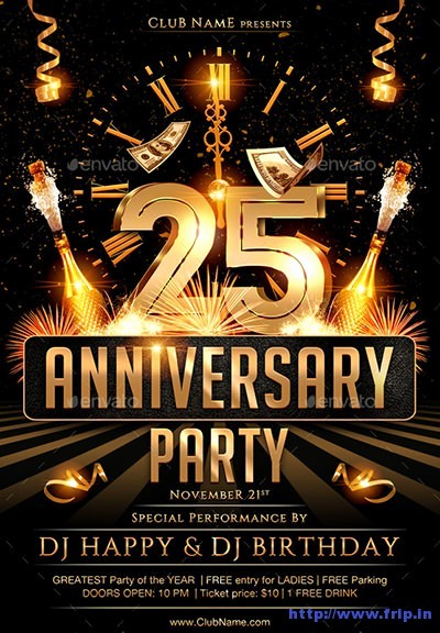 50th Birthday Flyer Template Free Fresh 70 Best Anniversary Party Flyer Print Templates 2017