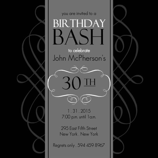 50th Birthday Flyer Template Free Luxury 30th Birthday Invitations Templates Free Printable