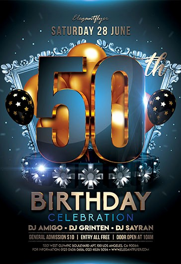 50th Birthday Flyer Template Free Luxury Free Psd Flyers Templates Premium Flyers for Shop