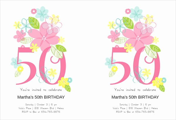 50th Birthday Flyer Template Free Luxury Party Flyer Templates