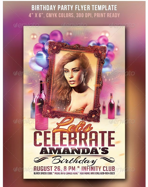50th Birthday Flyer Template Free New 26 Best Birthday Party Flyer Template Images On Pinterest