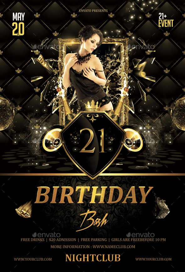 50th Birthday Flyer Template Free New Birthday Bash Flyer by butu85