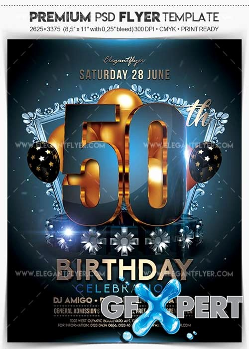 50th Birthday Flyer Template Free Unique Free Graphic Gfx sources Graphic for Designers