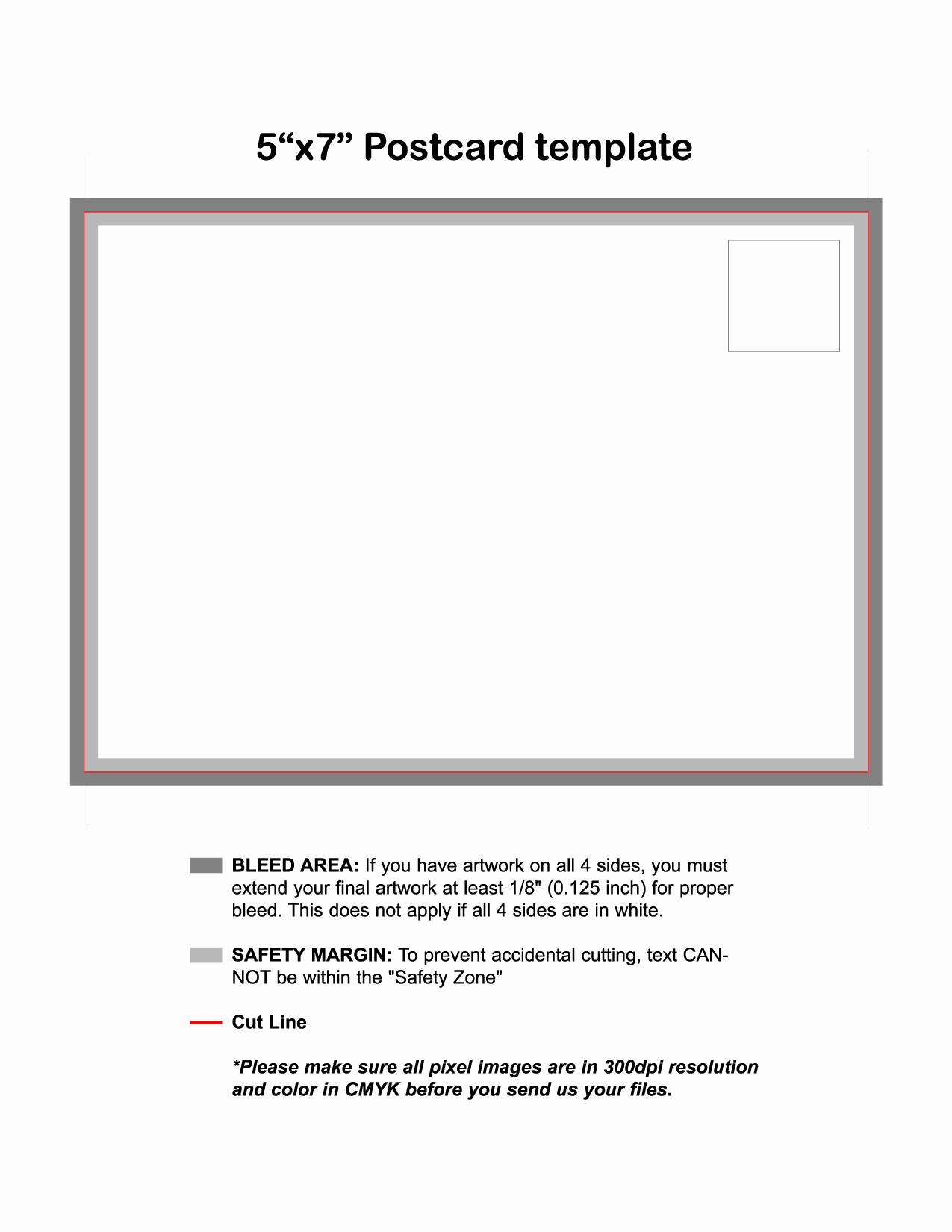 5x7 Greeting Card Template Word Elegant 4x6 Postcard Template Word Bing Images