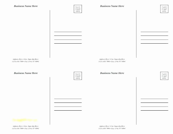 5x7 Greeting Card Template Word Lovely Template Avery 5x7 Postcard Template