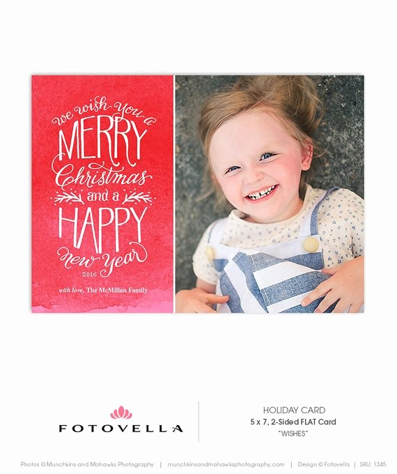 5x7 Greeting Card Template Word New Christmas Card Template Hand Drawn Type 5x7 Flat Card