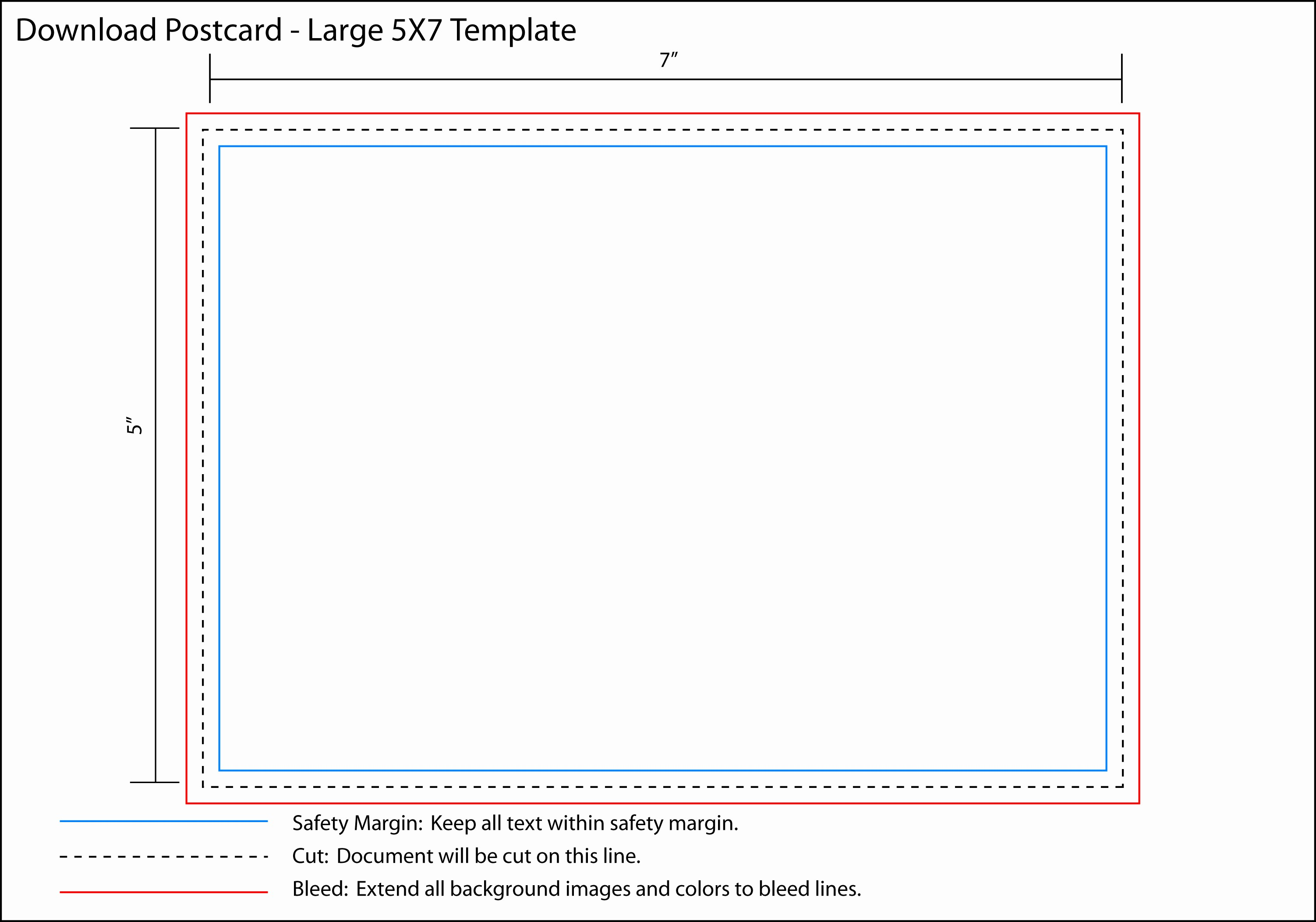 5x7 Greeting Card Template Word New Pin 5x7 Postcard Template On Pinterest