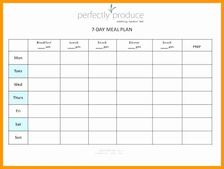 7 Day Menu Planner Template Beautiful 7 Day Meal Planner Template Excel Menu Food Diary
