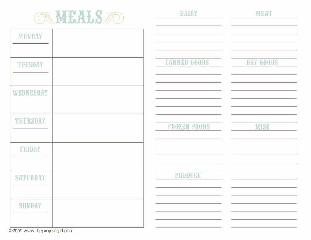 7 Day Menu Planner Template Best Of Meal Planning Travel Heals