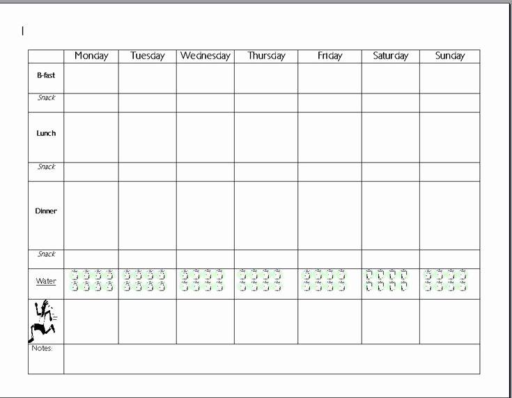 7 Day Menu Planner Template Inspirational 7 Day Meal Planning Template Search Results
