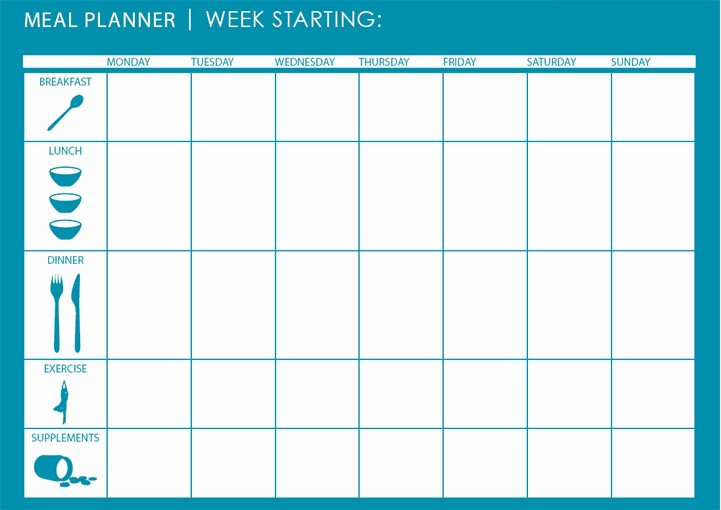 7 Day Menu Planner Template Inspirational Meal Planner Template