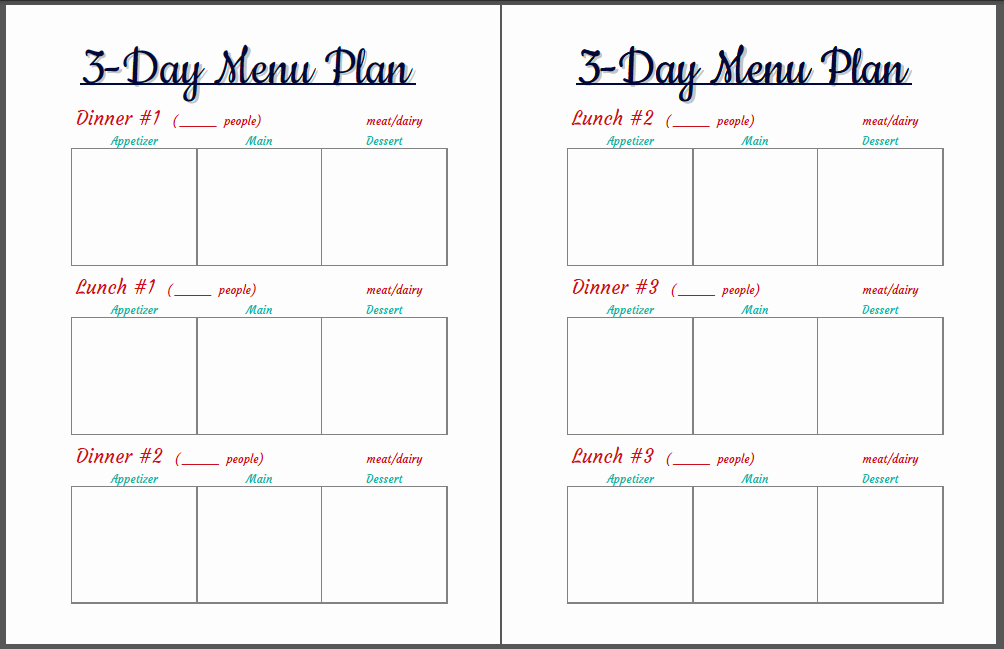 7 Day Menu Planner Template Luxury Pin Day Menu Planner 7 Template Pics On Pinterest
