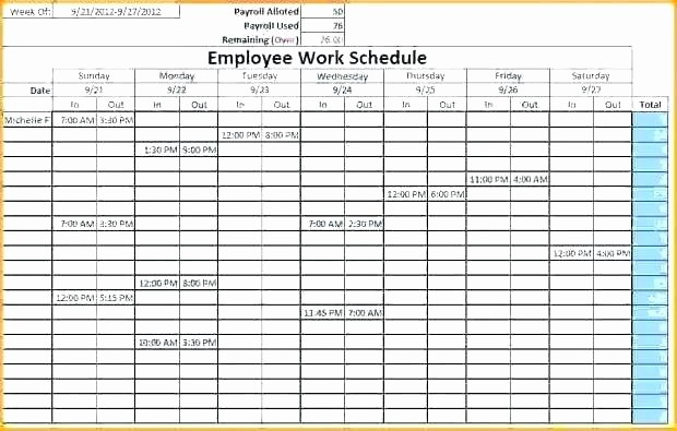 7 Day Schedule Template Excel Beautiful Template 7 Day 24 Hour Calendar Template Schedule Excel