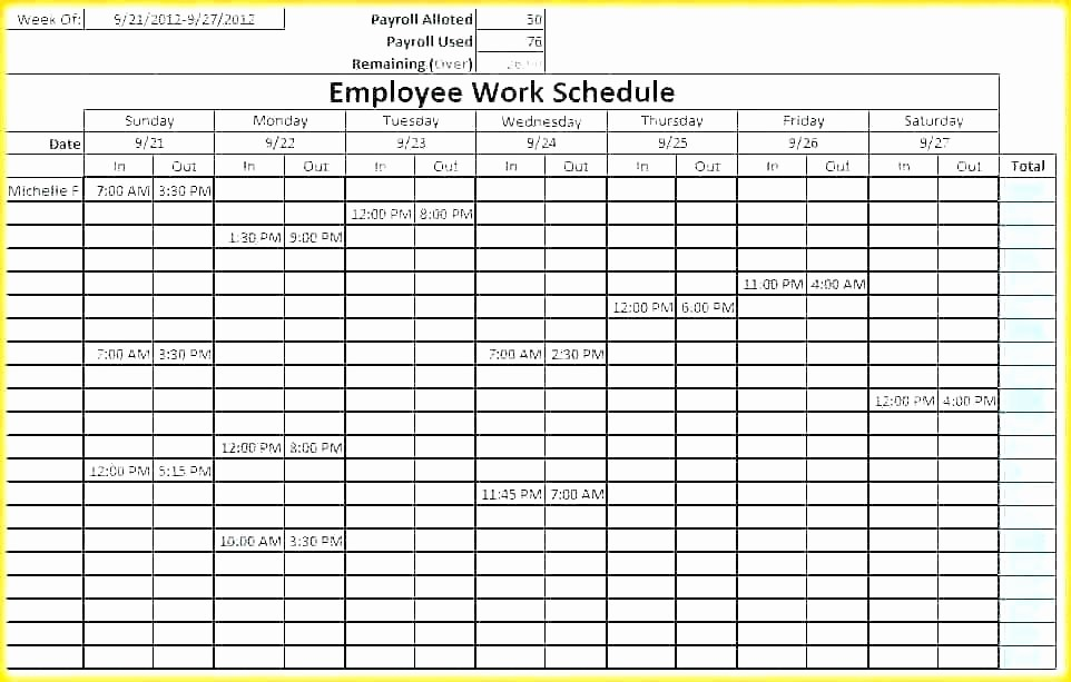 7 Day Schedule Template Excel Best Of 7 Day Work Week Schedule Template Scheduling 24 Hour Excel