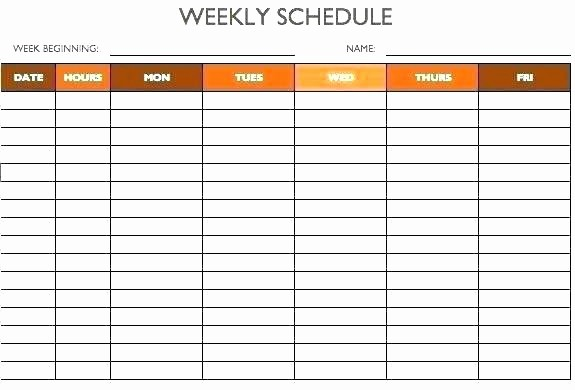 7 Day Schedule Template Excel Luxury 7 Day Calendar Template to Best Daily Templates Designs
