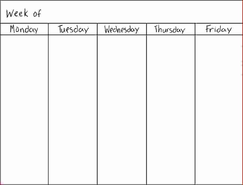 7 Day Week Calendar Template Best Of 7 Day Weekly Planner Template Printable