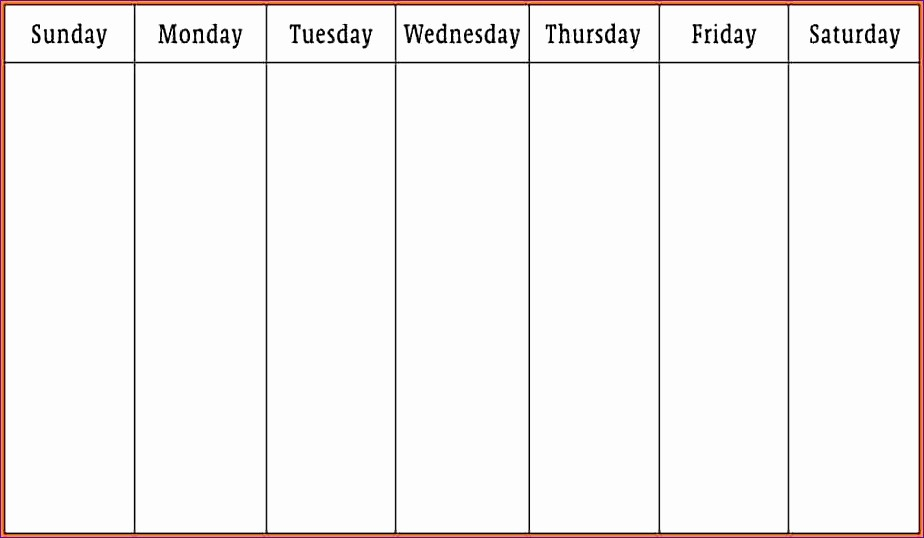 7 Day Week Calendar Template Elegant 10 Gtd Excel Template Exceltemplates Exceltemplates