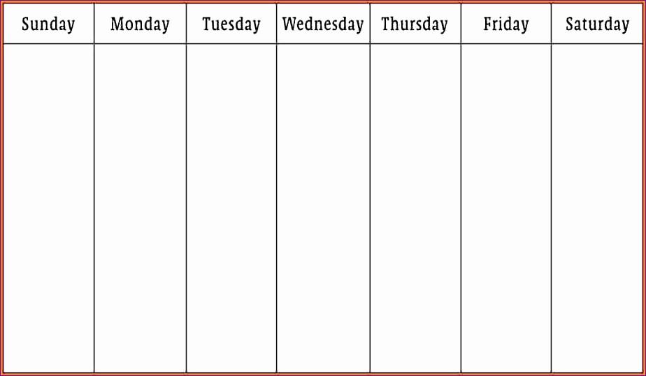 7 Day Week Calendar Template Elegant 10 Gtd Excel Template Exceltemplates Exceltemplates