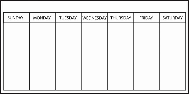 7 Day Week Calendar Template Fresh Whiteboard Weekly Calendar Wall Decal Contemporary