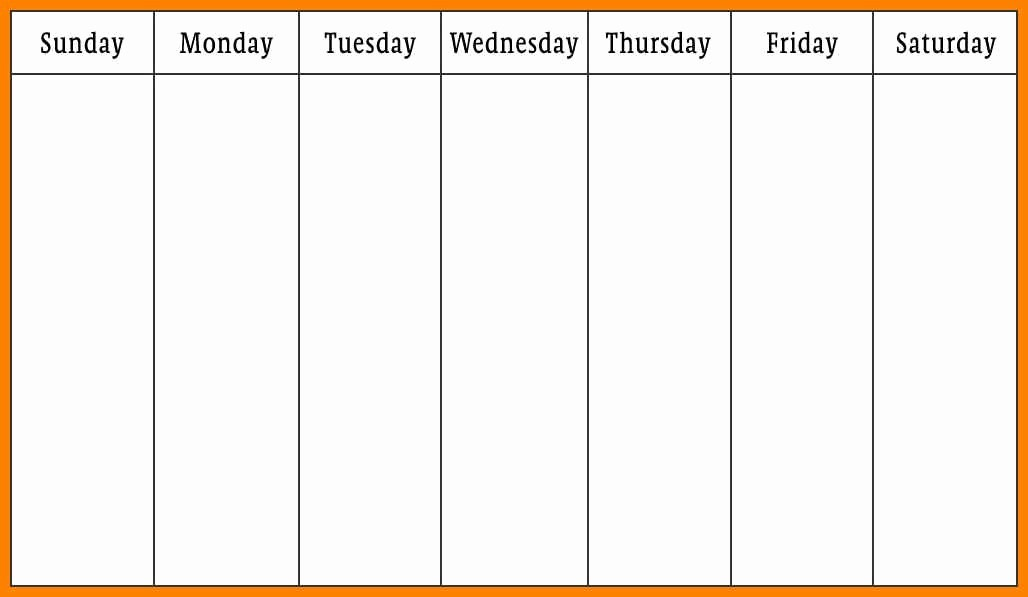 7 Day Week Calendar Template Inspirational Days the Week Calendar Printables 7 Days the Week
