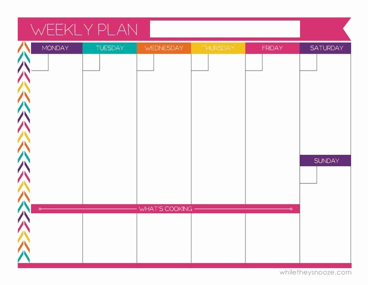 7 Day Week Calendar Template Unique Best 25 Weekly Planner Printable Ideas On Pinterest
