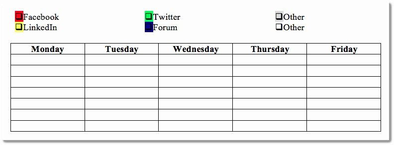 7 Day Weekly Planner Template Awesome 7 Day Calendar Template Aztec Line