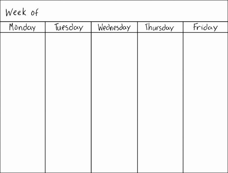 7 Day Weekly Planner Template Beautiful Blank Seven Day Calendar Free Calendar Template