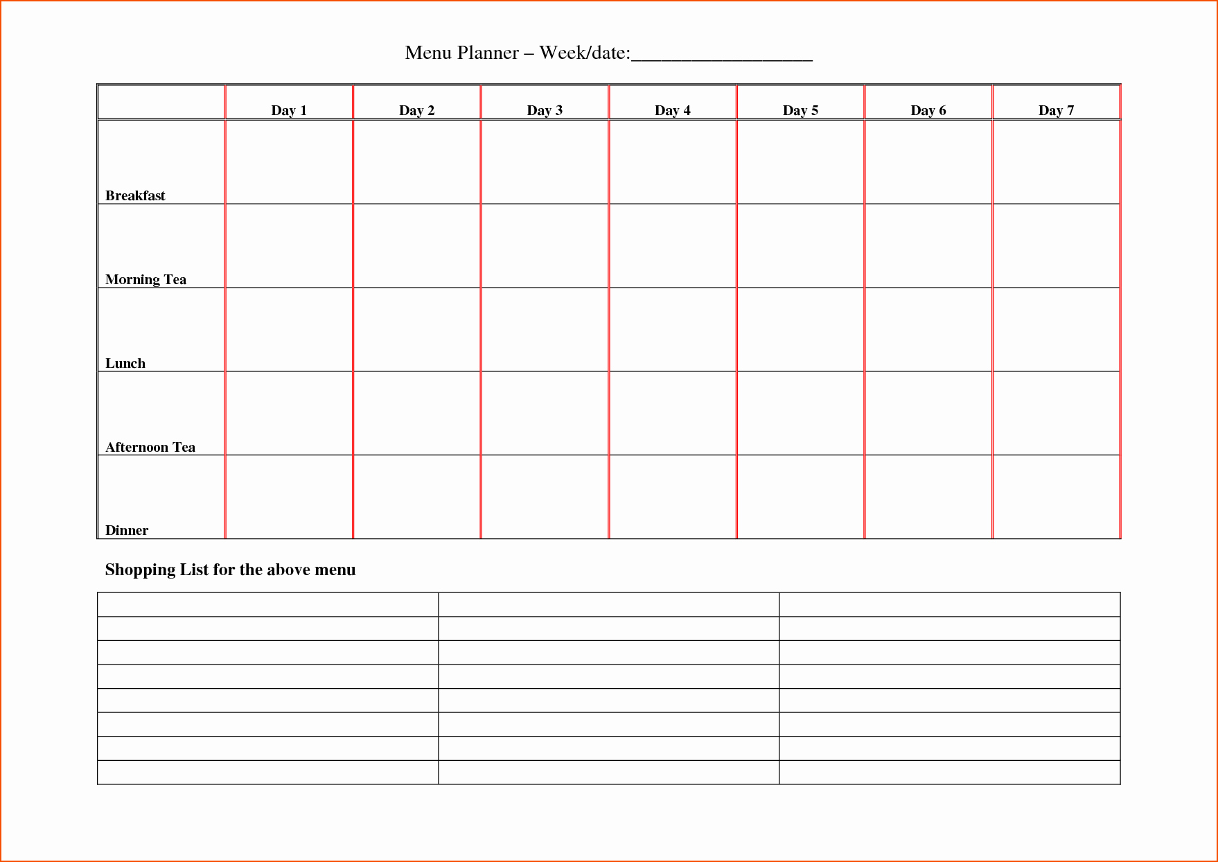 7 Day Weekly Planner Template Lovely 7 Day Planner Online Bookletemplate