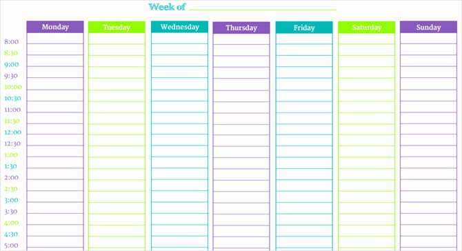 7 Day Weekly Planner Template Luxury these Time Blocking Free Printable Planners Will Help You